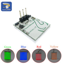 5PCS/LOT Blue Red and Yellow color Capacitive touch switch button module 2.7 V to 6 V module anti-jamming is strong HTTM series