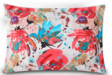 114073012silk double side  printed Silk Pillowcase size 74cm*48cm+3cm good quality  pillow cover