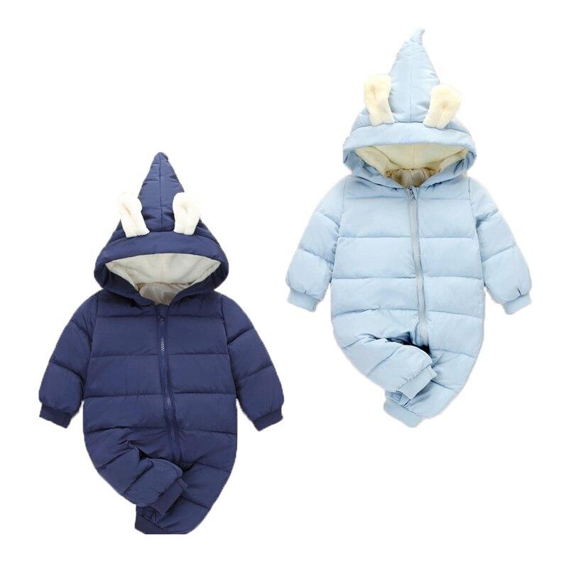 2017 New autumn Winter Jumpsuit Baby Newborn snowsuit Fotografia Boy Warm Romper 100% Cotton Girl clothes 0-2Y