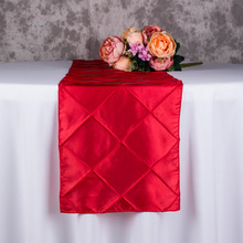 10PCS 30x275CM Decoration Polyester Banquet Wedding Table Runners Luxury Gold/Red/Blue/White Table Runner For Hotel Wholesale