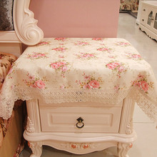 HBZ17 flower palace tablecloth table cover cloth Lace pastoral floral fabric rectangle squre pink napkin beautiful home