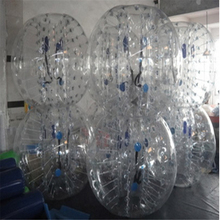 1M 6pcs+1 foot pump with factory Price, Inflatable Bubble Ball Suit For Team Building ,bubble soccer for christmas gift(China)