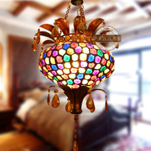 Bohemia 40CM pendant light single heads colorful garden restaurant decorations lamps hallway lights CRYSTAL LAMP ZZP