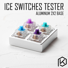 aluminum Switch Tester 2X2 silver for outemu otm ice switches light purple teal blue RGB SMD for Mechanical Keyboard(China)