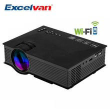 Original Excelvan UC46+ Portable Mini LED Projector WIFI Wireless Home Theater Multimedia Video PC USB SD HDMI Proyector Beamer