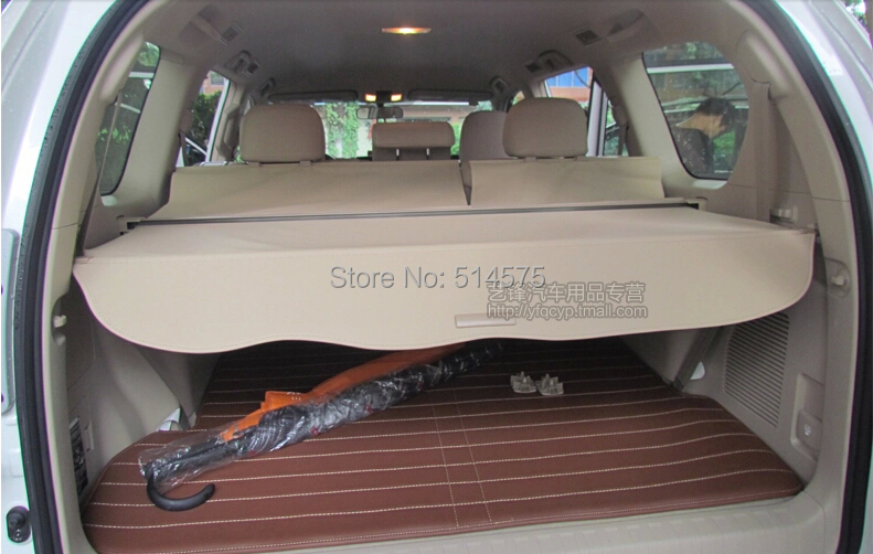 RETRACTABLE CARGO COVER REAR TRUNK SECURITY SHADE beige 1pcs For  Toyota  PRADO FJ150 2014 2015<br><br>Aliexpress