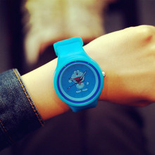 Cute Jelly Minions Doraemon Sakura Momoko Monsters University Silicone Quartz Wrist Watch for Girls Boy Children Students OP001