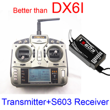 FSFLY Professional 2.4GHz wireless 6 CH Transmitter Radio with S603 Receiver Surpass DX6i JR FUTABA for Quadcopters Helicopters
