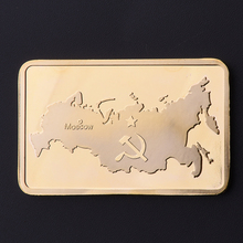 Russia Map Coins Gold Plated Bullion Bar Replica Gold Bullion Souvenir Coin BTC335
