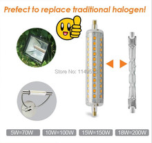 Hot sell dimmable LED R7S light 118mm 10w R7S lamp 360 degree angle J118 R7S perfect replace halogen lamp AC110-240V