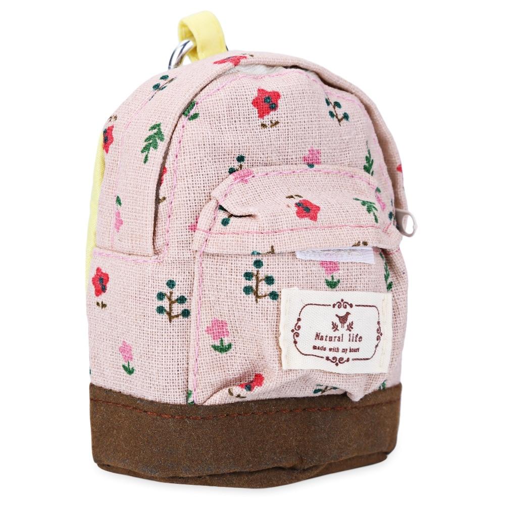 Chic Leisure Floral Print Canvas Mini Coin Purse Key Holder Buggy Bag Zipper Canvas Multi Color Cute Shape Women Coin Purses<br><br>Aliexpress