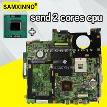 send 2 cores cpu + heatsink For ASUS X50N F5N X50M F5M Laptop Laptop Mainboard motherboard Test Ok(China)