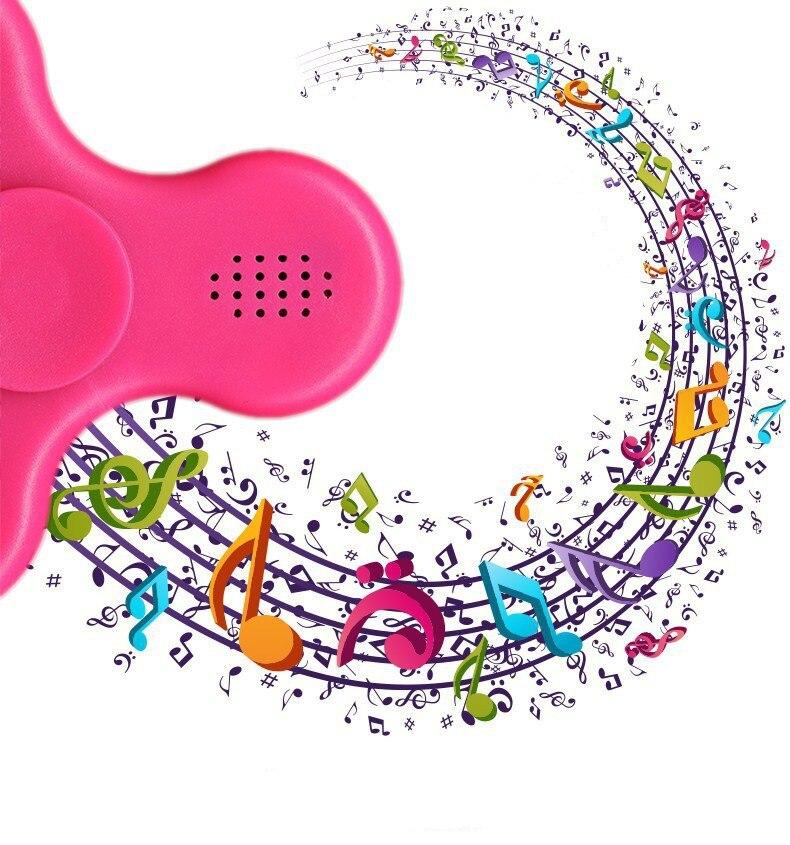 New Brand Fidget Spinner LED Bluetooth Speaker Hand Spinner Tri Spinning Top Decompression Finger Spiner Toys
