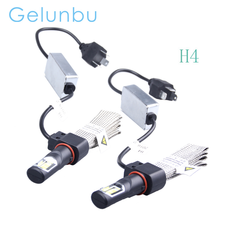 1Set 2016 H4 Led Bulb Headlight 80W 8000LM 6000K Auto Bulbs Kit Lamps For Car COB Light Source External Lights Lamp Headlamp<br><br>Aliexpress