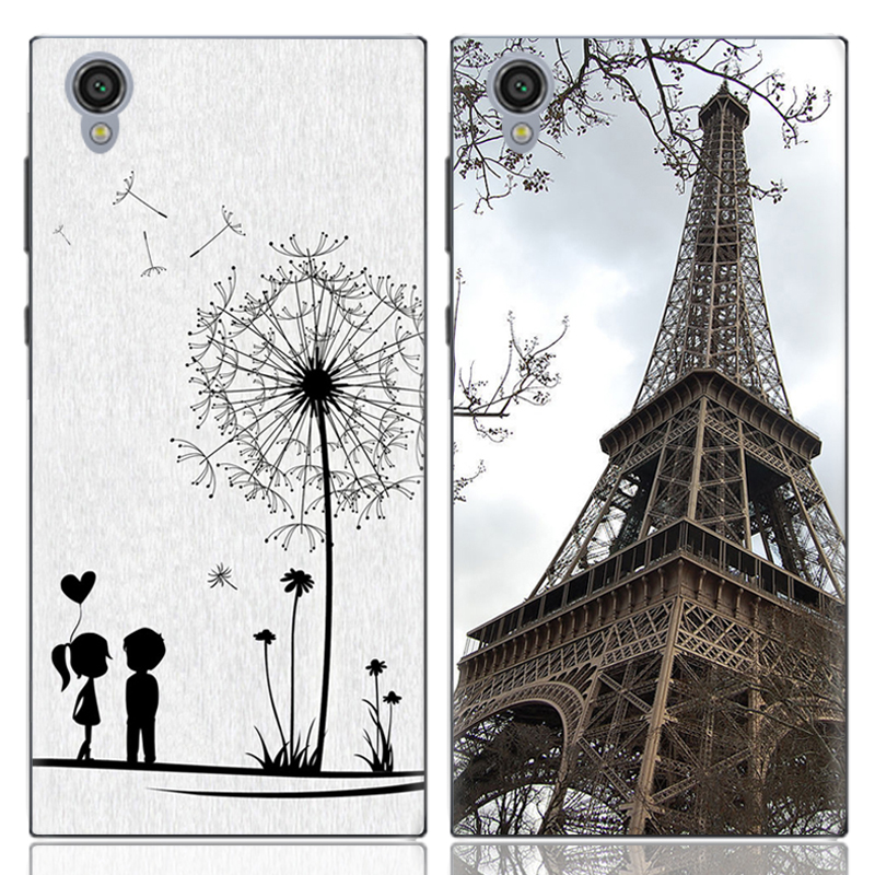 CASEISHERE Soft Silicone Painted TPU Case Skin Sony Xperia L1 G3311 G3313 G3312 phone Patterned Cute Cartoon Shell Cover