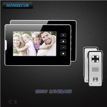 HOMSECUR 7inch Wired Video Intercom System Electric Lock Supported With Video & Dual-way Audio Communication for Home Security(China)