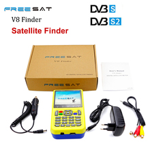 Freesat v8 finder 3.5 inch LCD Sat Finder DVB-S2 High Definition Satellite Finder MPEG-4  FTA Digital Freesat satellite Finder