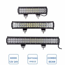 12'' 17 20 INCH Offroad LED Work Light Bar 72W 108W 126W Combo Car 12V 24V SUV 4WD 4X4 ATV RZR Truck Pickup LED Driving Lamp