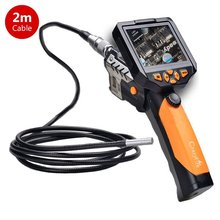 "NTS200 3.5"" LCD Digital Borescope Camera Endoscope 8.2mm 2M Probe Inspection Video Endoscope Camera Waterproof Zoom Rotate Flip"