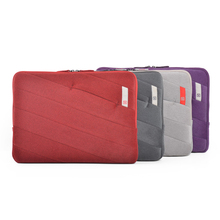 High quality colorful 11.6' 13' 14' laptop netbook Soft Sleeve cover Pouch for Lenovo macbook hp universal Red purple grey(China)