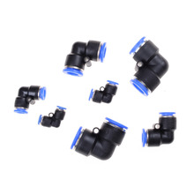 Discount 5 Pcs/Lot Wholesale Pneumatic Push In Elbow Fitting Connector PV for Air/Water Hose & Tube Airline 5Pcs Same Size(China)