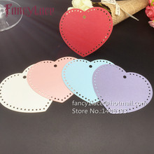 50PCS Paper Love Heat Hang Tags Gift Cards Message Cards for Valentine's Day Party Decoration diy wish tree card Wedding Favor