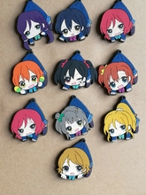10 Pcs/set Anime Lovelive pvc figure toy Love live Hanging posture Rubber phone strap/Keychain pendant toys for gifts