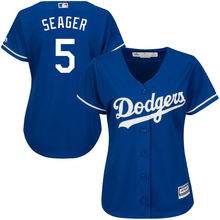 MLB Women's Los Angeles Dodgers Corey Seager 5 White Cool Base Player Baseball Jerseys(China)