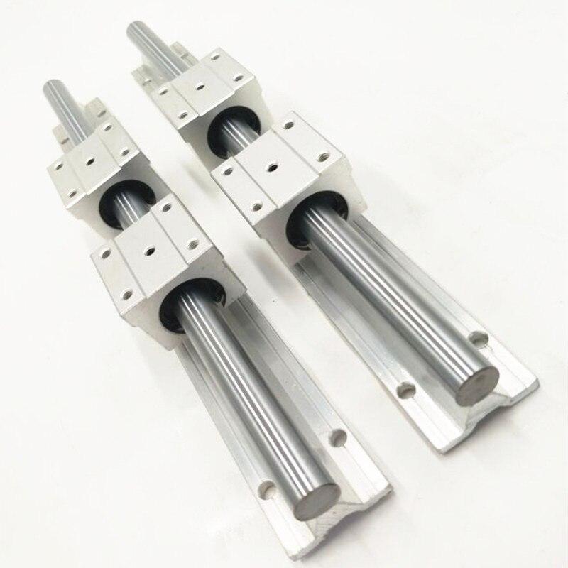 2X SBR16-1200mm 16MM FULLY SUPPORTED LINEAR RAIL SHAFT ROD + 4 SBR16UU Block<br>