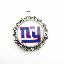 Hot selling New York Giants Football Team Logo pendant Necklace For Sports Fans jewelry with DIY Dangle pendant Jewelry(China)
