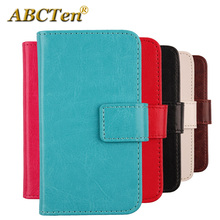 ABCTen Book-Style Flip PU Leather Cell Phone Case Wallet Cover For Medion Life MD 99687 E5520 5.5''(China)