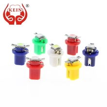 KEIN 10PCS B8.5D B8.5 cob Auto car led T5 Lamp Gauge Dashboard Warning Indicator Instrument Lights Interior Vehicle Lamp 12V red