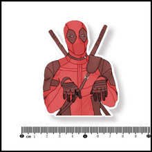 Deadpool Waterproof PVC Laptop Notebook Skin Sticker Car Styling Home decor jdm Decal For kid Toy Suitcase Stickers[single](China)