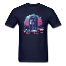 Man Offivial Rad Tardis t shirts Organizer man Black T-Shirt Totally And Radically Driving In Space Short-sleeve Tee Low Price