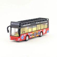 Free Shipping/Diecast Toy Model/Pull Back/City Sightseeing Convertible Bus/Sound & Light Car/Educational Collection/Gift/Kid(China)