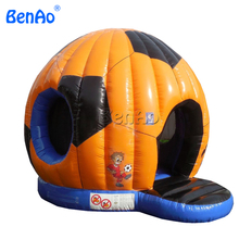 T317 Free shipping+air blower inflatable jumping castle/Soccer Football Shape Inflatable Bouncer Jumping Bounce House For Sale(China)