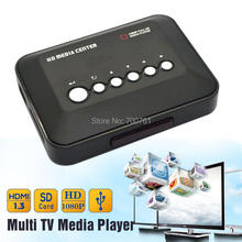 1080P Full HD SD/MMC TV Videos SD MMC RMVB MP3 Multi TV USB HDMI Media Player with Remote Control