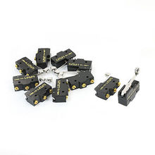 10pcs LXW5-11G1 SPDT Momentary Roller Hinge Arm Limit Switch Microswitch