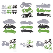 New Metal Transport Series Cutting Dies Car Helicopter Cycle Embossing Stencil Craft For Cards Album Scrapbooking DIY Decoration