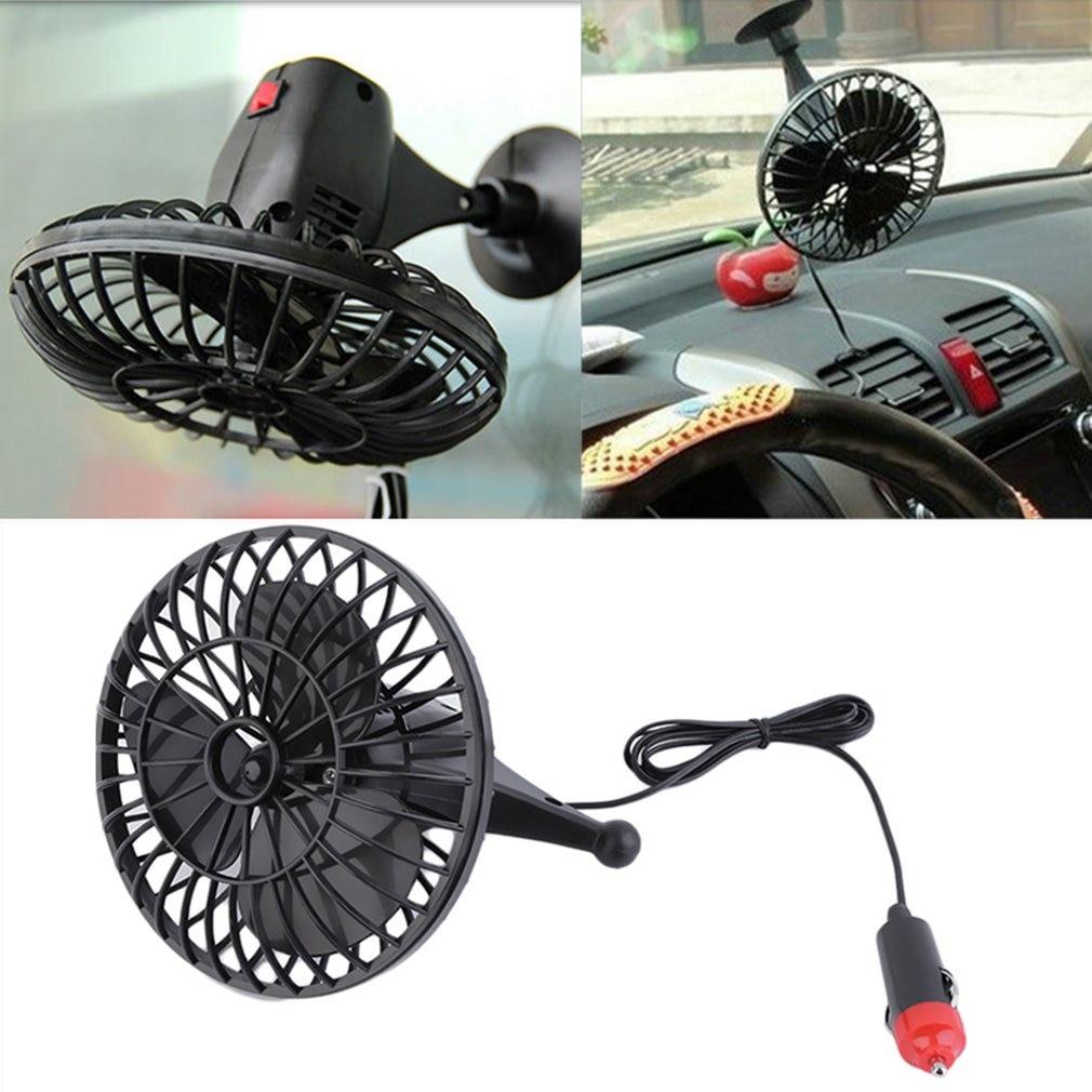 Creative Micro USB Fan For car Portable Mini Fan Mini 12V 4 Inch Summer Mini Air Fan Car Vehicle Cooling Suction Cup Adsorption