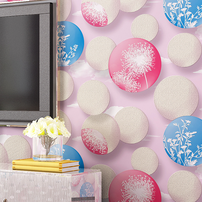 beibehang circle non woven Papel de parede 3d flooring Wall Paper Home Decor wallpaper roll for Living Room Bedroom Papier Pient<br>