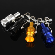 Aluminum Universal Car Turbo Sound Whistle Blow Off Simulator Whistler Valve XL Auto Exhaust Muffler Pipe Exhaust Tips for Audi