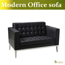 U-BEST receptions sofa , lobbies and cabins of higher officials furniture ,home or living rooms loveseat sofa in real leather(China)