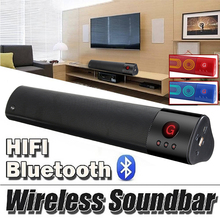 Sem fio bluetooth speaker soundbar tv 3D Stereo Surround Subwoofer Falante de Áudio FM Aux Rádio HIFI home theater Speaker Portátil(China)