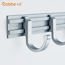 Solid Wall Mounted Robe Hooks For Door Modern Aluminum Clothes Hooks Bathroom Accessories Wall Hanger With 2-7 Hooks Of Cobbe(China)