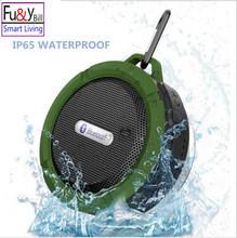 New C6 Wireless Waterproof Speaker with 5W Drive,Support SD TF Card , Suction Cup, Buit-in Mic, Hands-Free Speakerphone PK BTS06