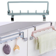 Foldable Towel Holder Rack Bathroom Kitchen Cupboard Door Cabinet Hook For Hanging Cloth Hanger Holder