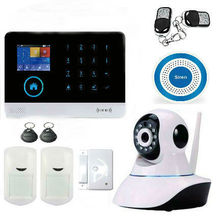 Home WiFi GSM GPRS RFID Burglar Alarm House Business Surveillance Home Security System Auto Dial Wireless IP Camera Siren