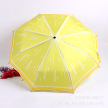 Three Folding fruit watermelon Kiwi fruit lemon printing creative umbrella Sunshade advertising gift promotional umbrella(China)