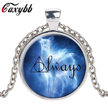 Caxybb brand 1pcs always perez patronus hp jewelry always patronus gryffindor snape deer Necklace glass Necklace